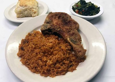Workmen's Cafe - Pork Chop and Rice
